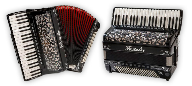 Modell Super-Musette | Piano-Standardbass-Akkordeon-Cassotto (120-Bass)